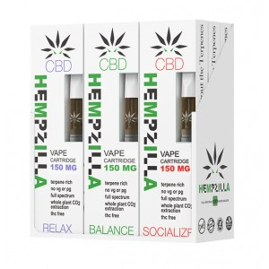 Hempzilla 510 CBD 150mg Cartridges (9ct Display Box)