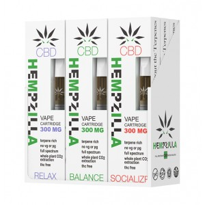 Hempzilla 510 CBD 300mg Cartridges (9ct Display Box)